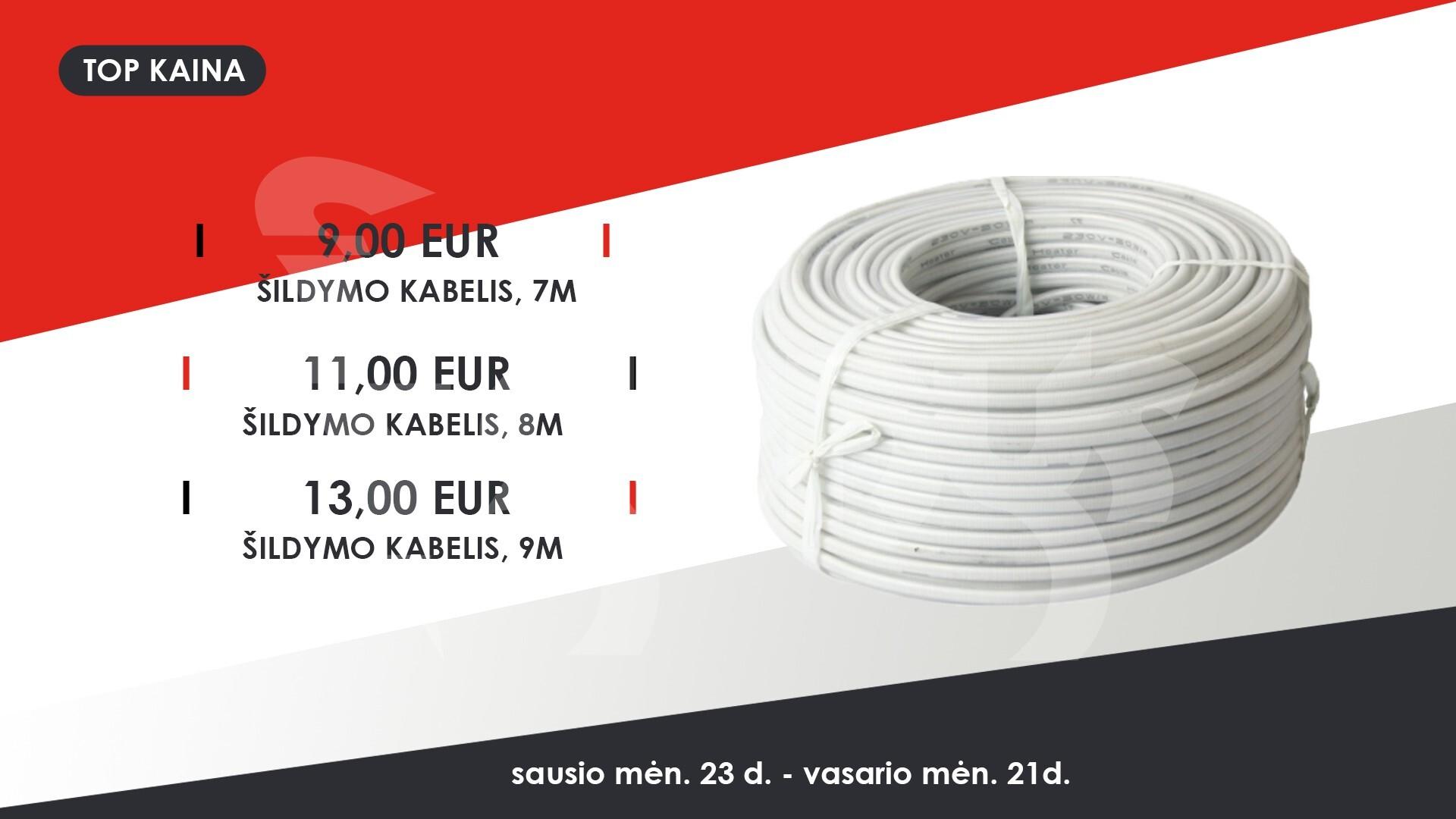 šildymo kabelis rw